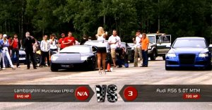 Lamborghini Murcielago LP640 vs Audi RS6 Evotech