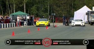Chevrolet Corvette ZR1 vs Koenigsegg CCXR