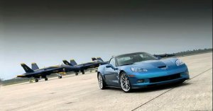 Chevrolet Corvette ZR1 vs Navy Fighter Jet
