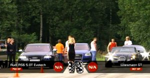 Wiesmann GT vs Audi RS6 Evotech