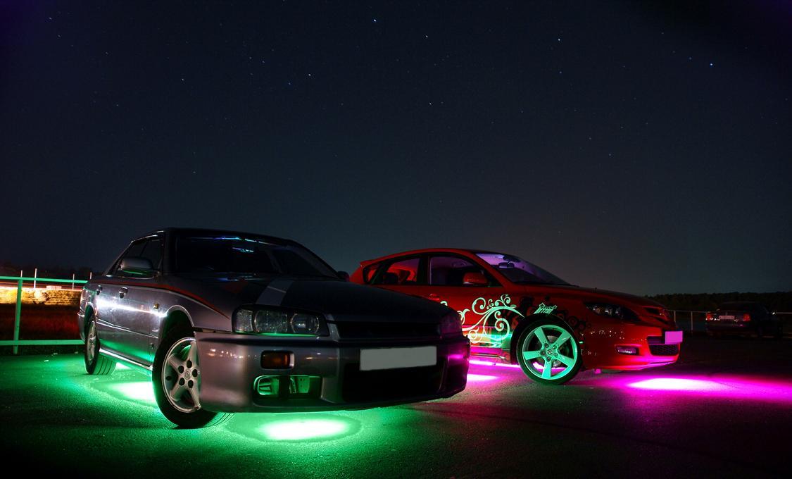 машины с подсветкой фото